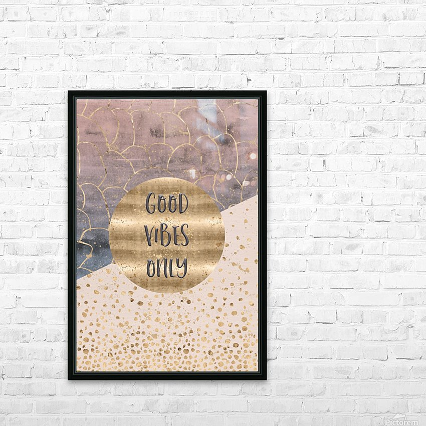 GRAPHIC ART Good vibes only HD Sublimation Metal print with Decorating Float Frame (BOX)