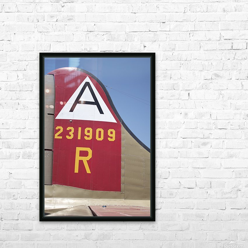 B-17 Tail HD Sublimation Metal print with Decorating Float Frame (BOX)