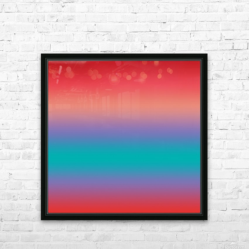 summer Ombre HD Sublimation Metal print with Decorating Float Frame (BOX)