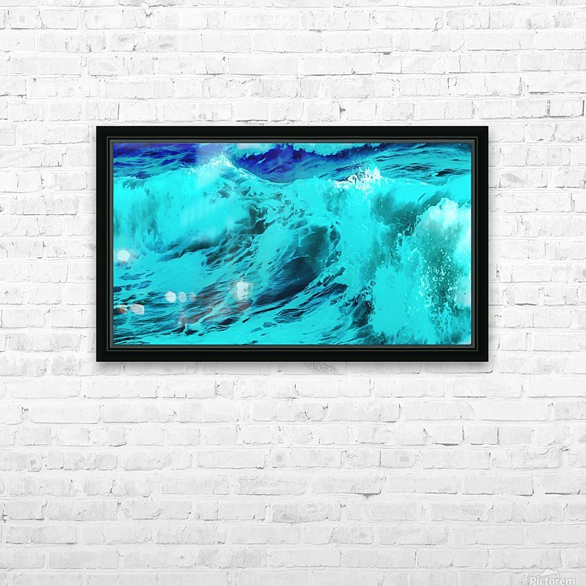 Abstract Wave VII HD Sublimation Metal print with Decorating Float Frame (BOX)