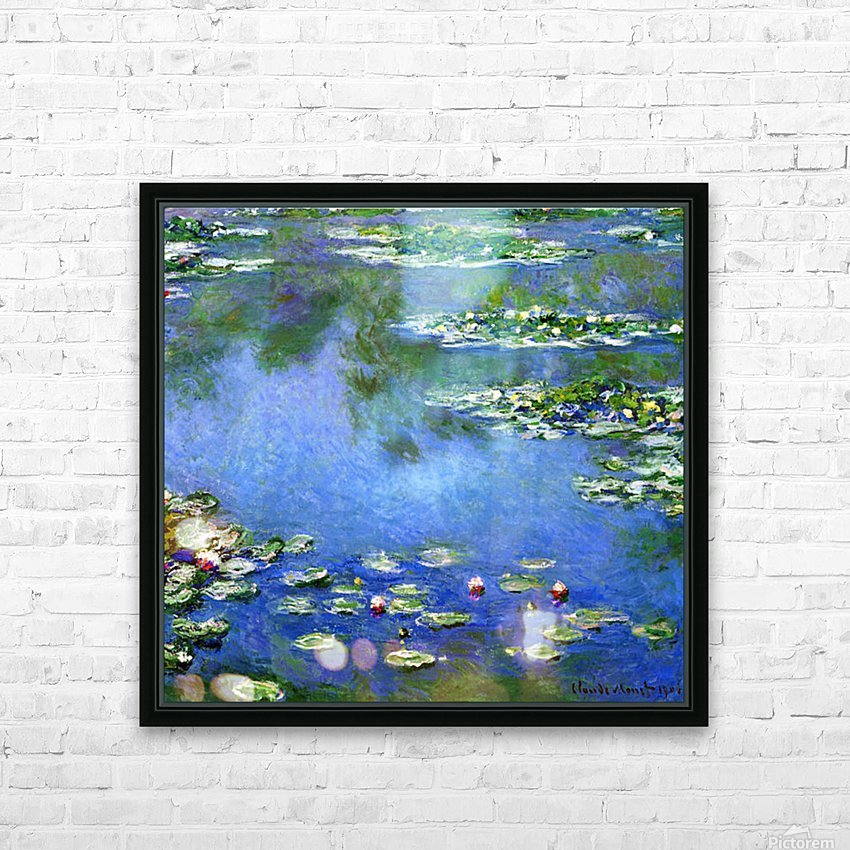 Water Lilies HD Sublimation Metal print with Decorating Float Frame (BOX)