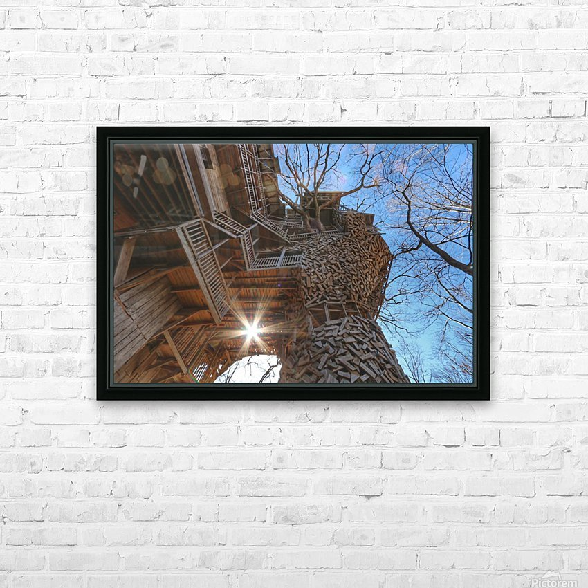 Abandoned Ministers Treehouse HD Sublimation Metal print with Decorating Float Frame (BOX)