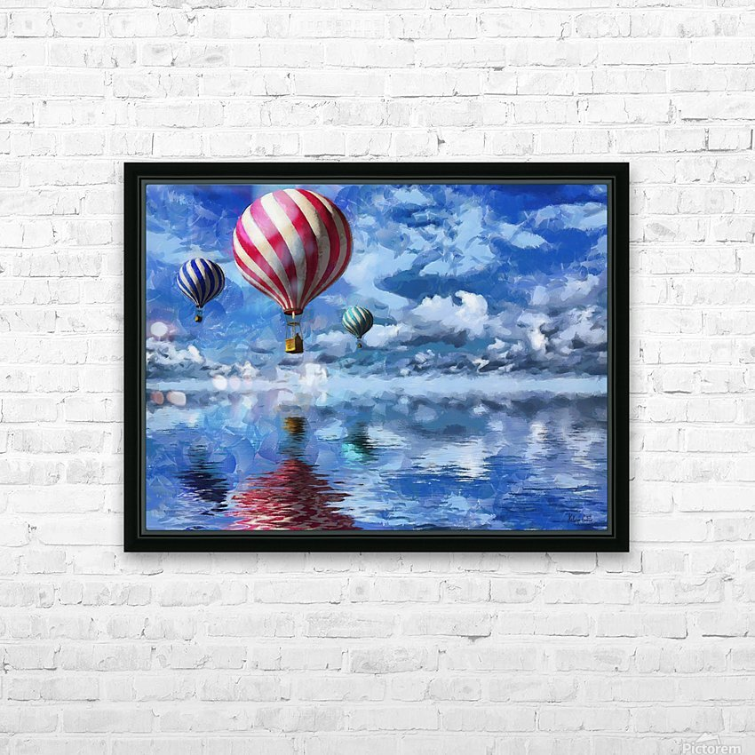 HC0250  HD Sublimation Metal print with Decorating Float Frame (BOX)