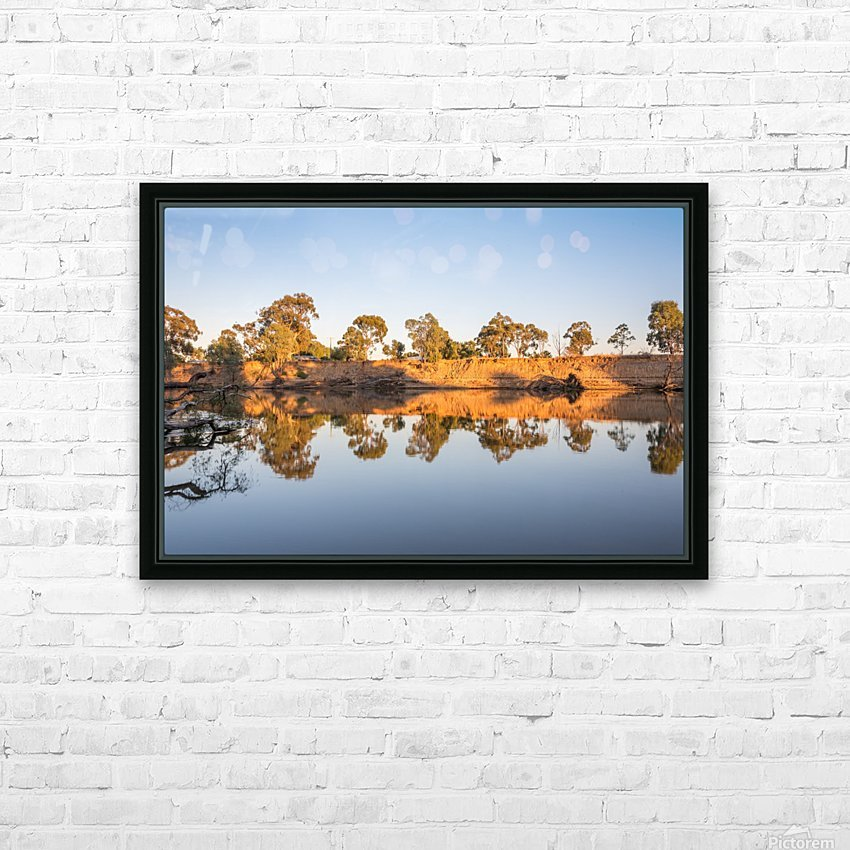 Reflections on the Murray River HD Sublimation Metal print with Decorating Float Frame (BOX)