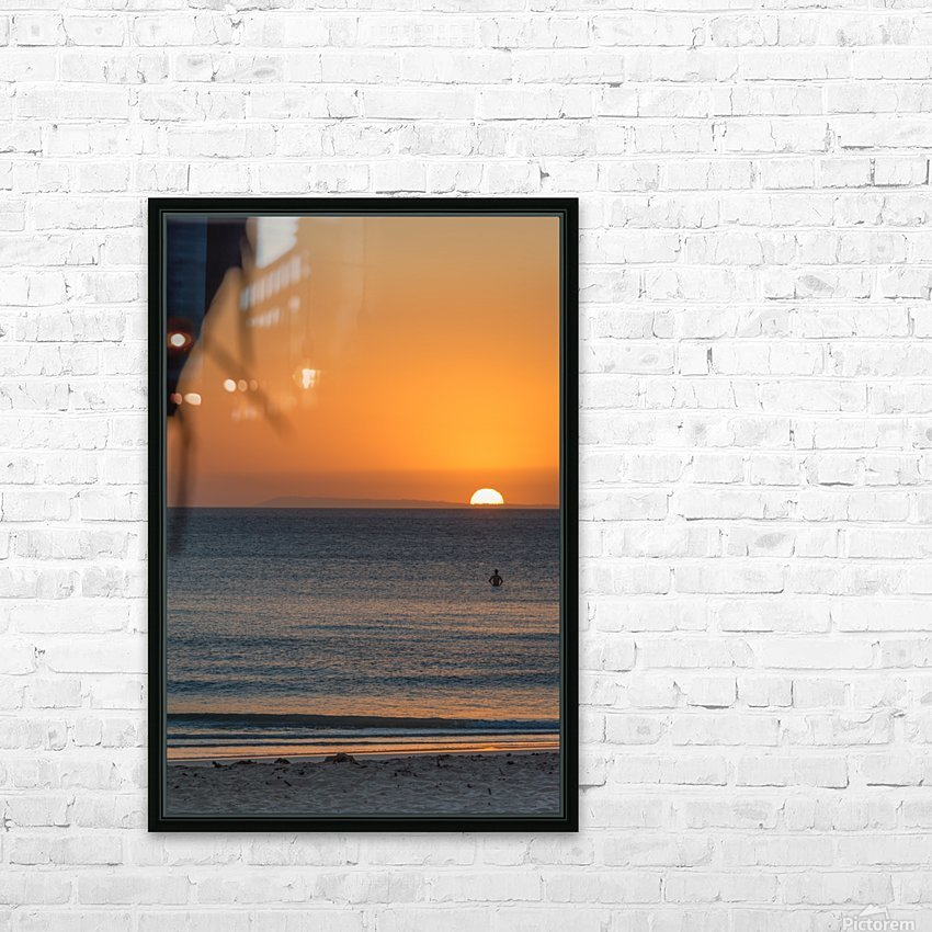Taking a moment to watch the sunrise HD Sublimation Metal print with Decorating Float Frame (BOX)