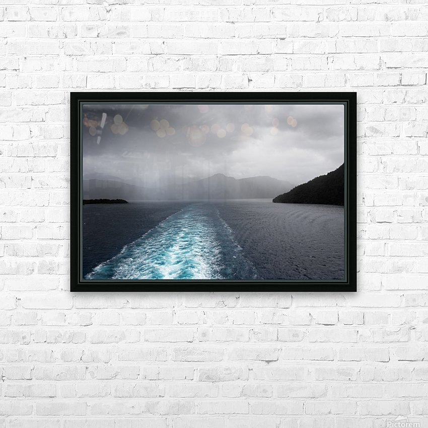 Leaving Fiordland New Zealand HD Sublimation Metal print with Decorating Float Frame (BOX)