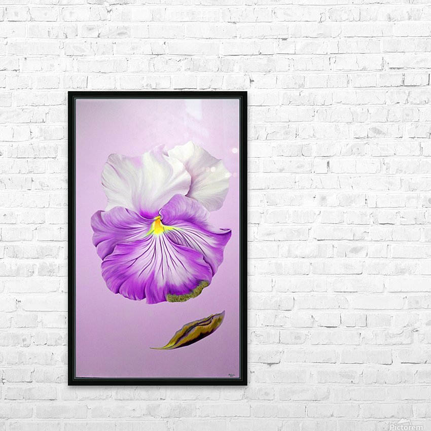 Purple Pansy HD Sublimation Metal print with Decorating Float Frame (BOX)