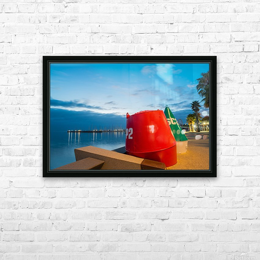 Geelong Waterfront Pre Dawn HD Sublimation Metal print with Decorating Float Frame (BOX)