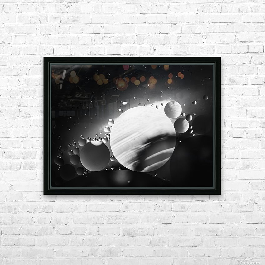 Micro Galaxy - Micro Galaxie HD Sublimation Metal print with Decorating Float Frame (BOX)