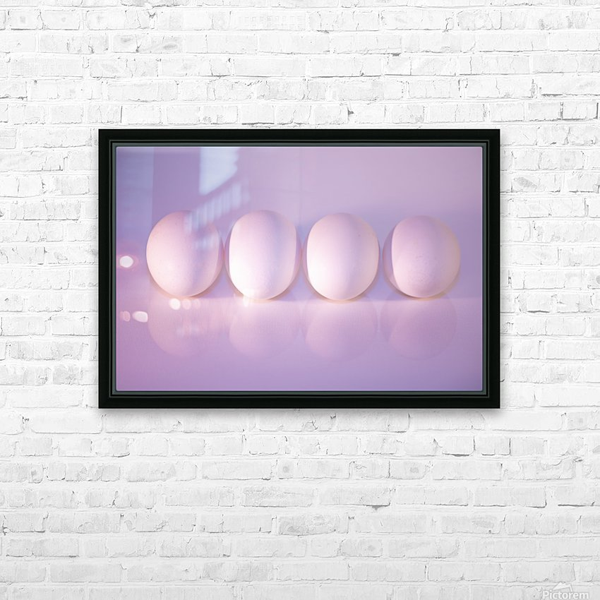 The Art of Eggs HD Sublimation Metal print with Decorating Float Frame (BOX)