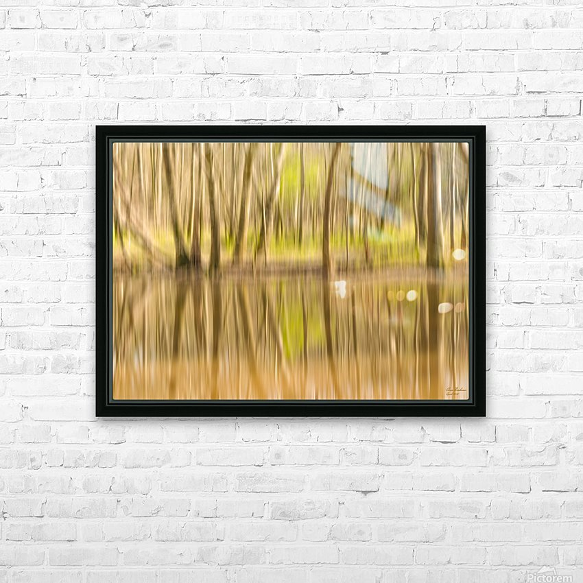 forest park reflections HD Sublimation Metal print with Decorating Float Frame (BOX)