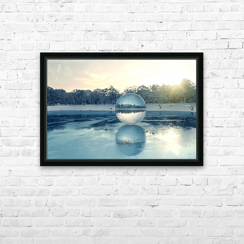 crystal ball on frozen lake HD Sublimation Metal print with Decorating Float Frame (BOX)