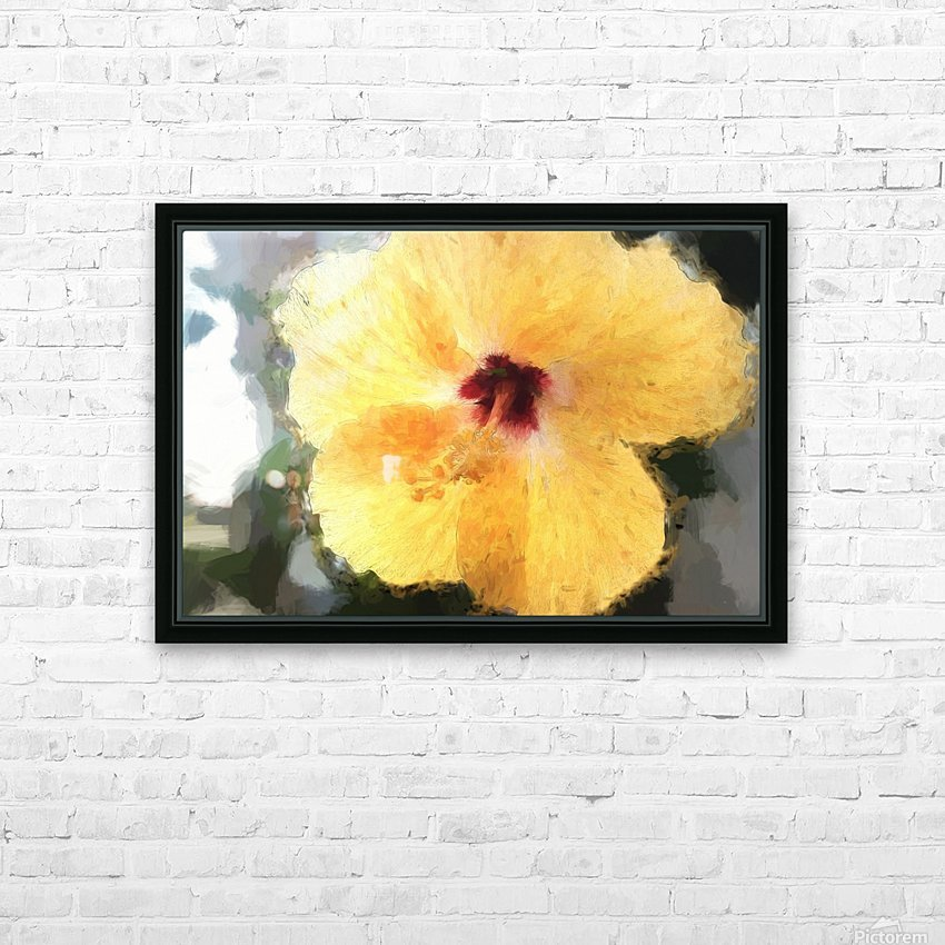 Lady Yellow HD Sublimation Metal print with Decorating Float Frame (BOX)