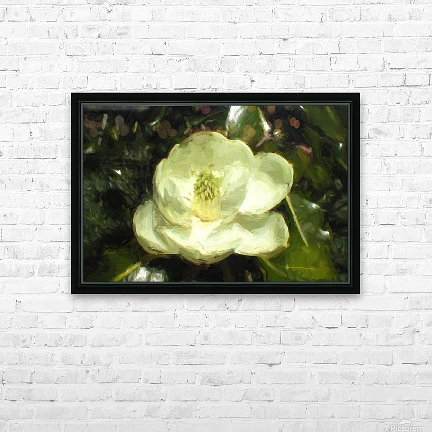 Magnolia HD Sublimation Metal print with Decorating Float Frame (BOX)
