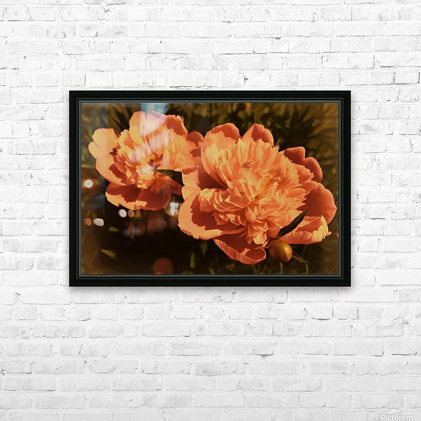 Vintage Peonies HD Sublimation Metal print with Decorating Float Frame (BOX)