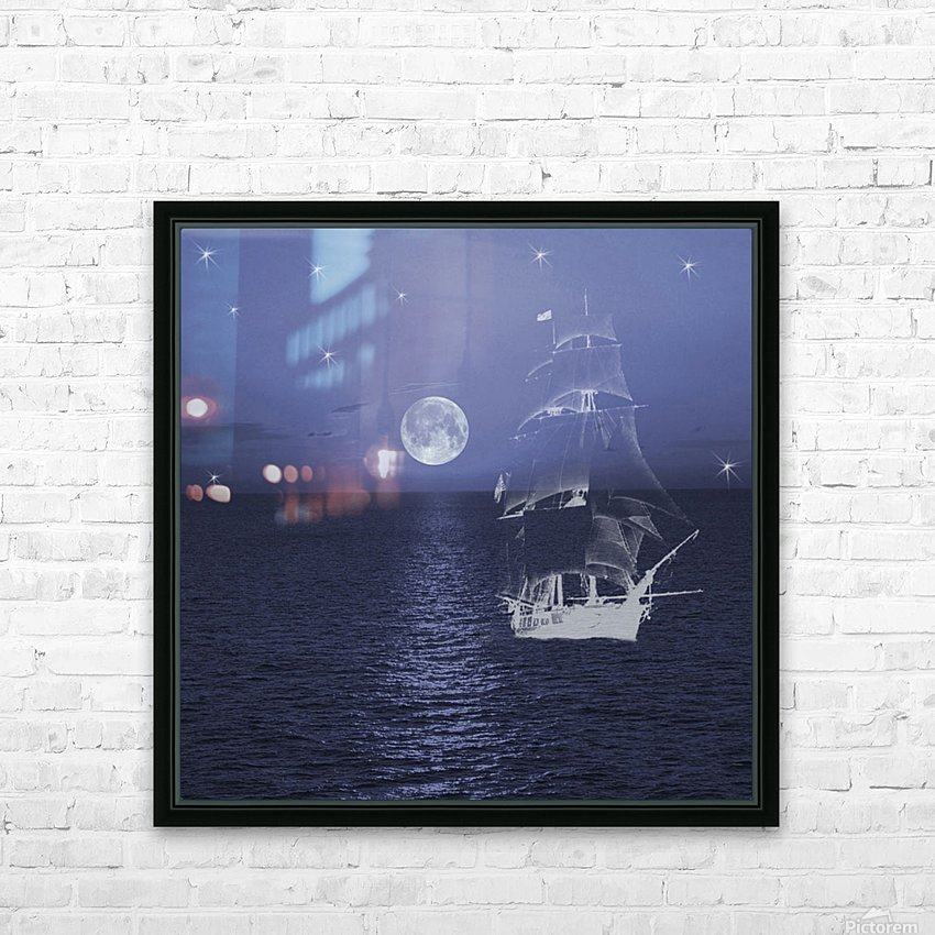 Ghost Ship HD Sublimation Metal print with Decorating Float Frame (BOX)