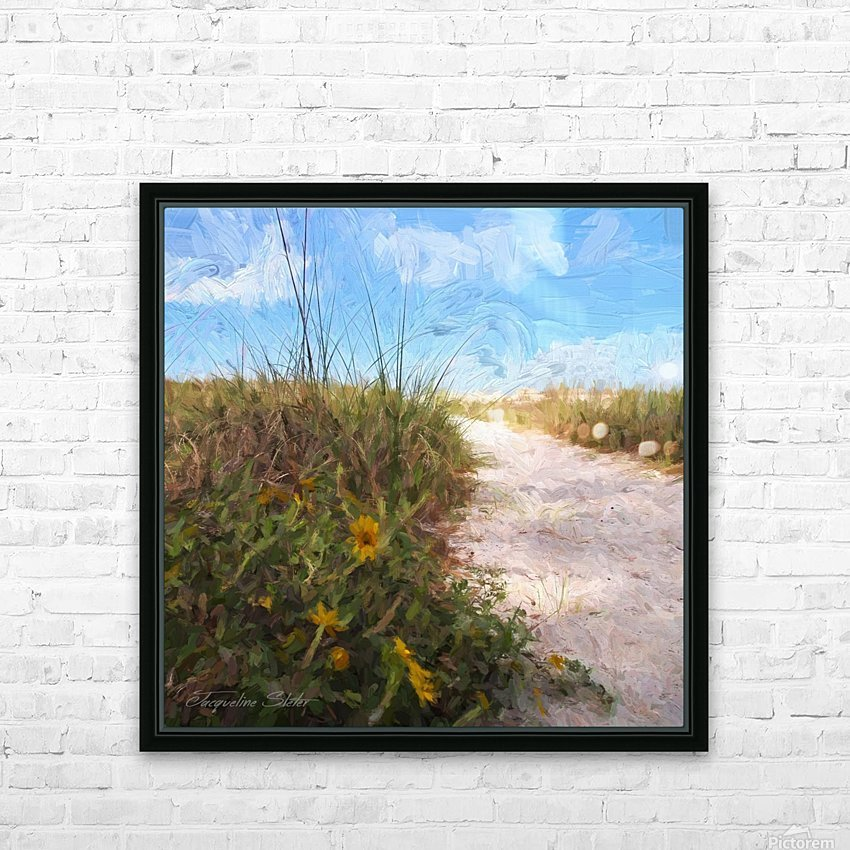 A Trail to the Beach HD Sublimation Metal print with Decorating Float Frame (BOX)