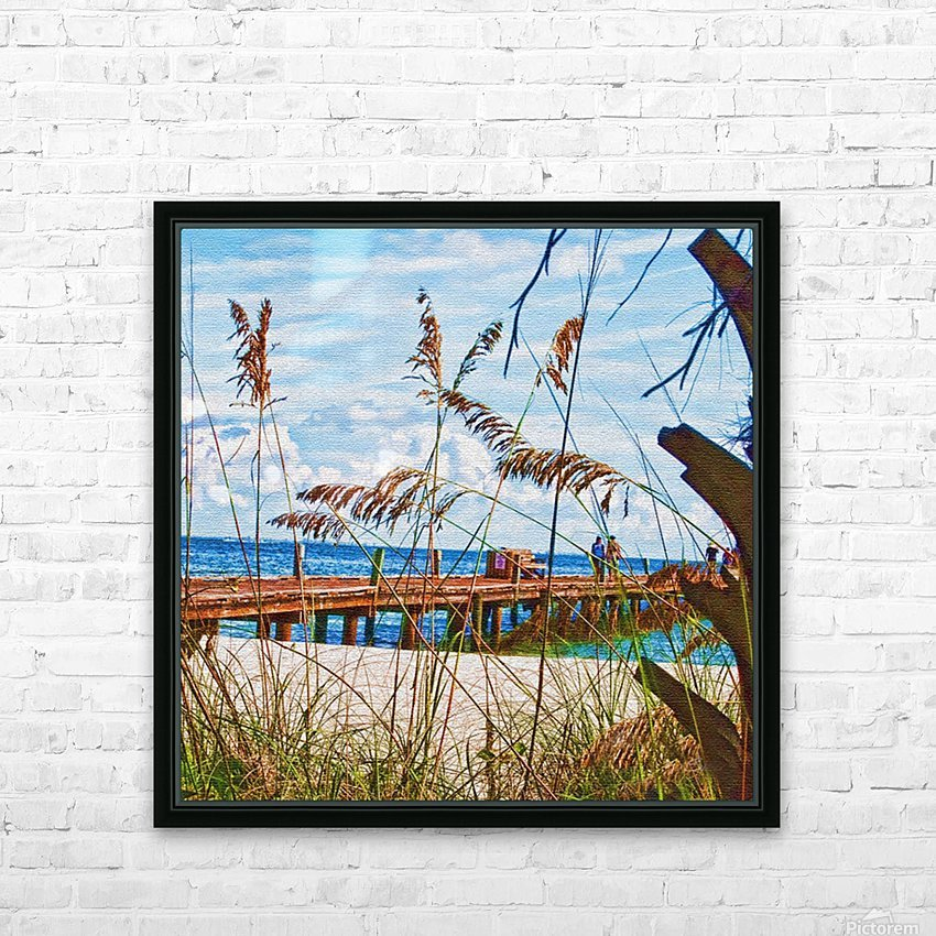 Beach Walk HD Sublimation Metal print with Decorating Float Frame (BOX)