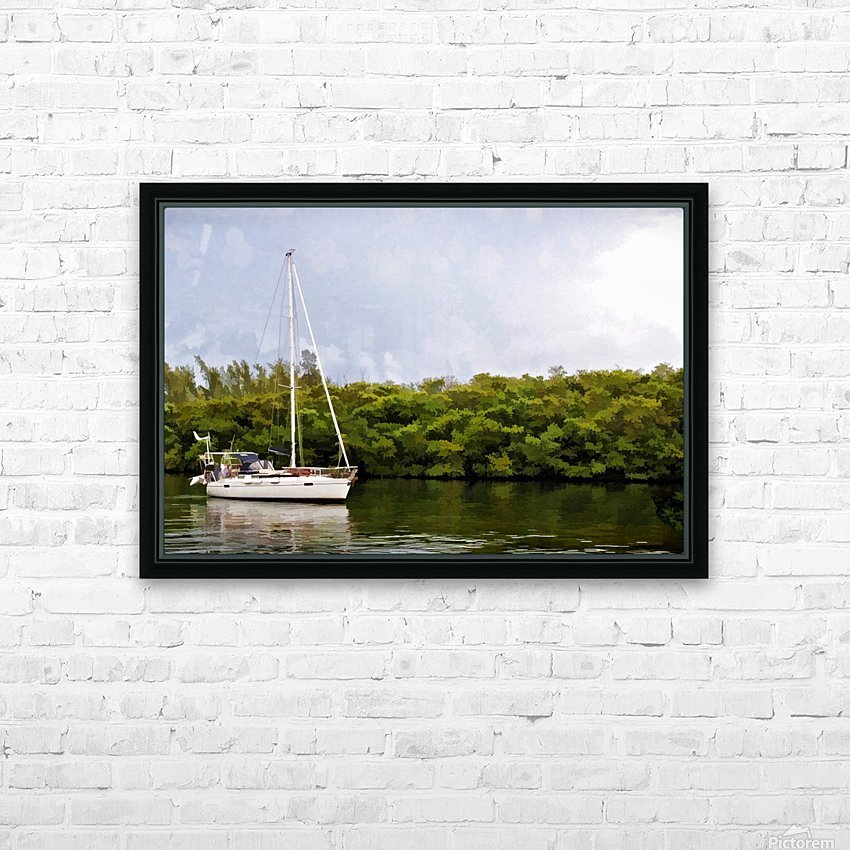 On Quiet Waters HD Sublimation Metal print with Decorating Float Frame (BOX)