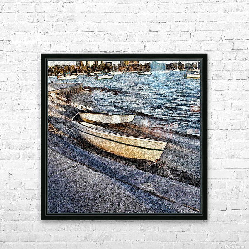 Boats At The Bay HD Sublimation Metal print with Decorating Float Frame (BOX)