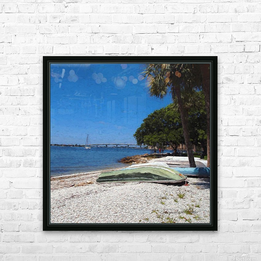 Rest Stop HD Sublimation Metal print with Decorating Float Frame (BOX)