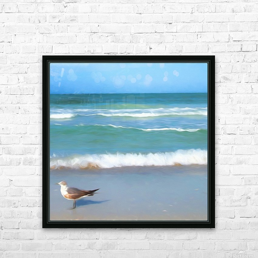Surfs Up HD Sublimation Metal print with Decorating Float Frame (BOX)