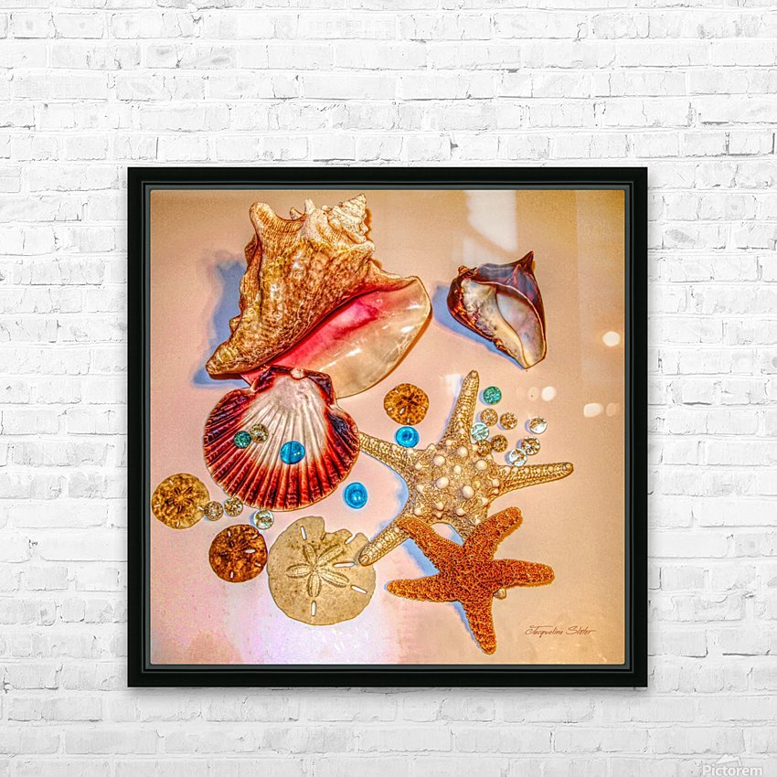 Sea Treasures HD Sublimation Metal print with Decorating Float Frame (BOX)