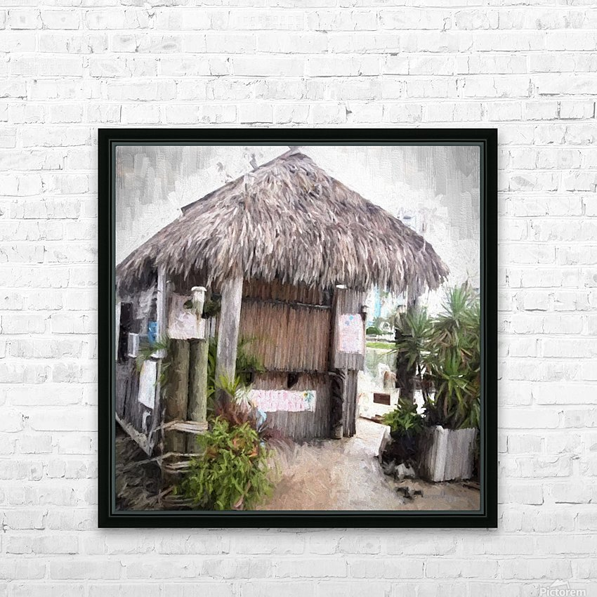 Hut HD Sublimation Metal print with Decorating Float Frame (BOX)