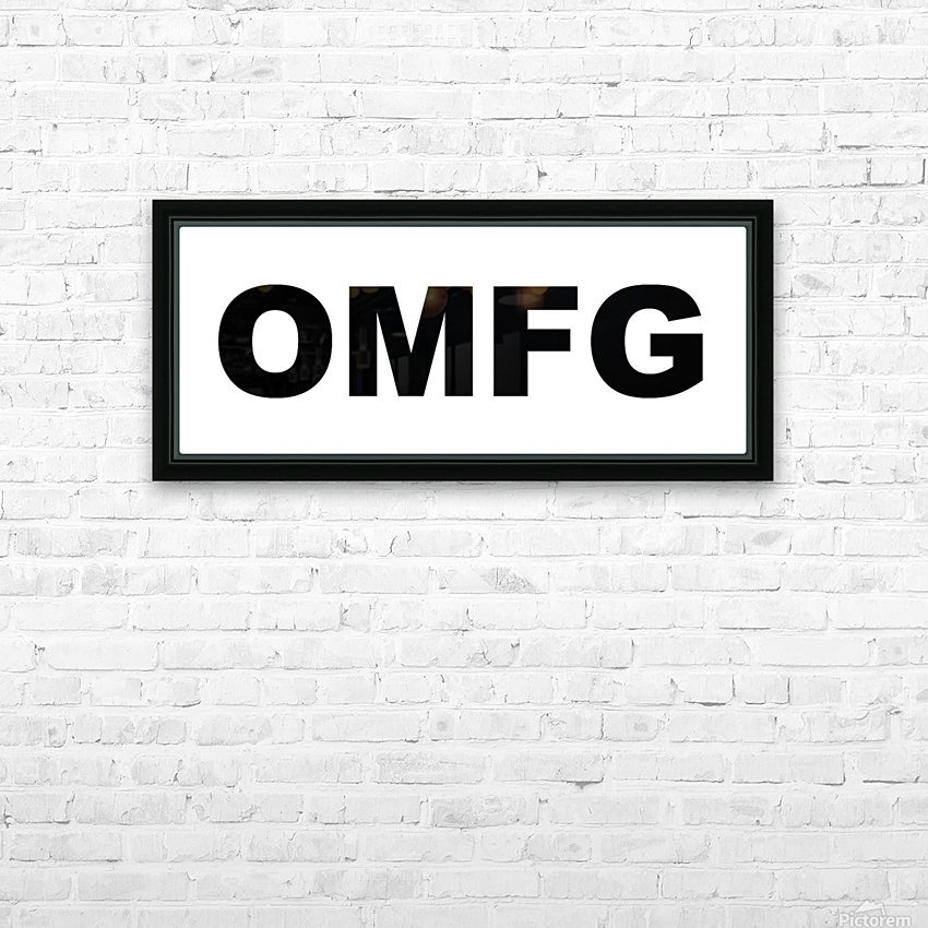 OMFG HD Sublimation Metal print with Decorating Float Frame (BOX)