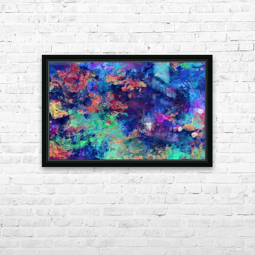Abstract Colors HD Sublimation Metal print with Decorating Float Frame (BOX)