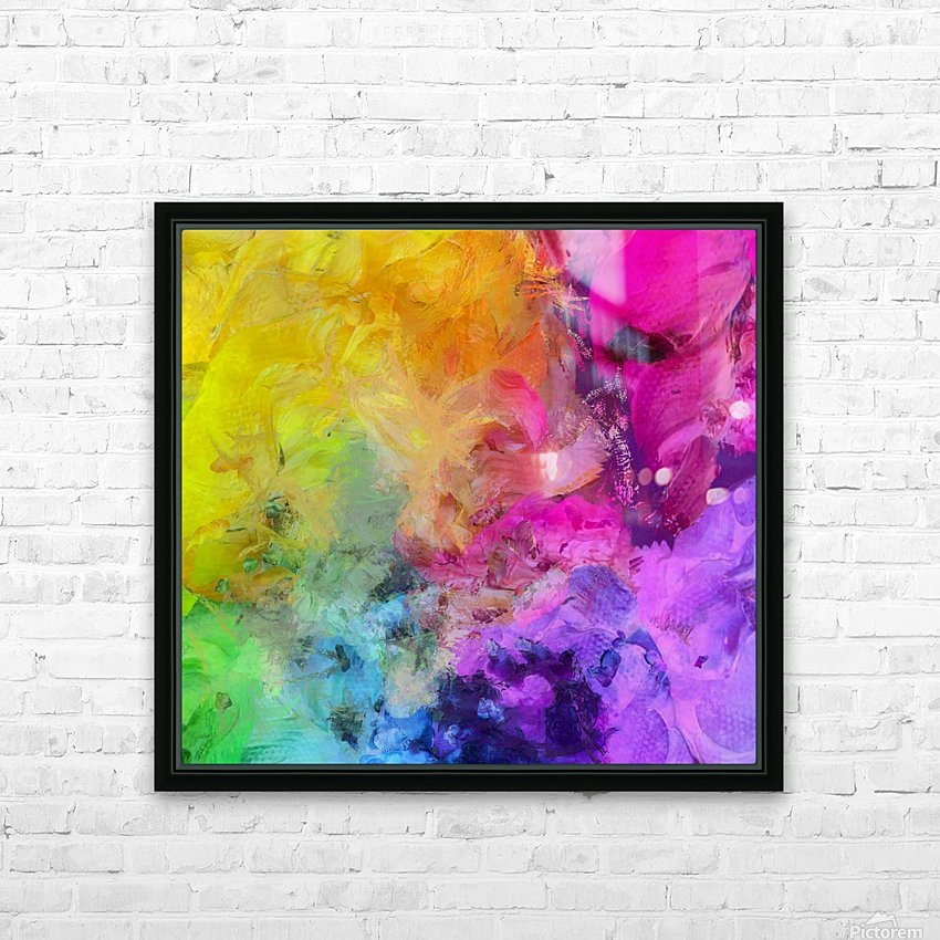 Bright Colorful Abstract Painting HD Sublimation Metal print with Decorating Float Frame (BOX)