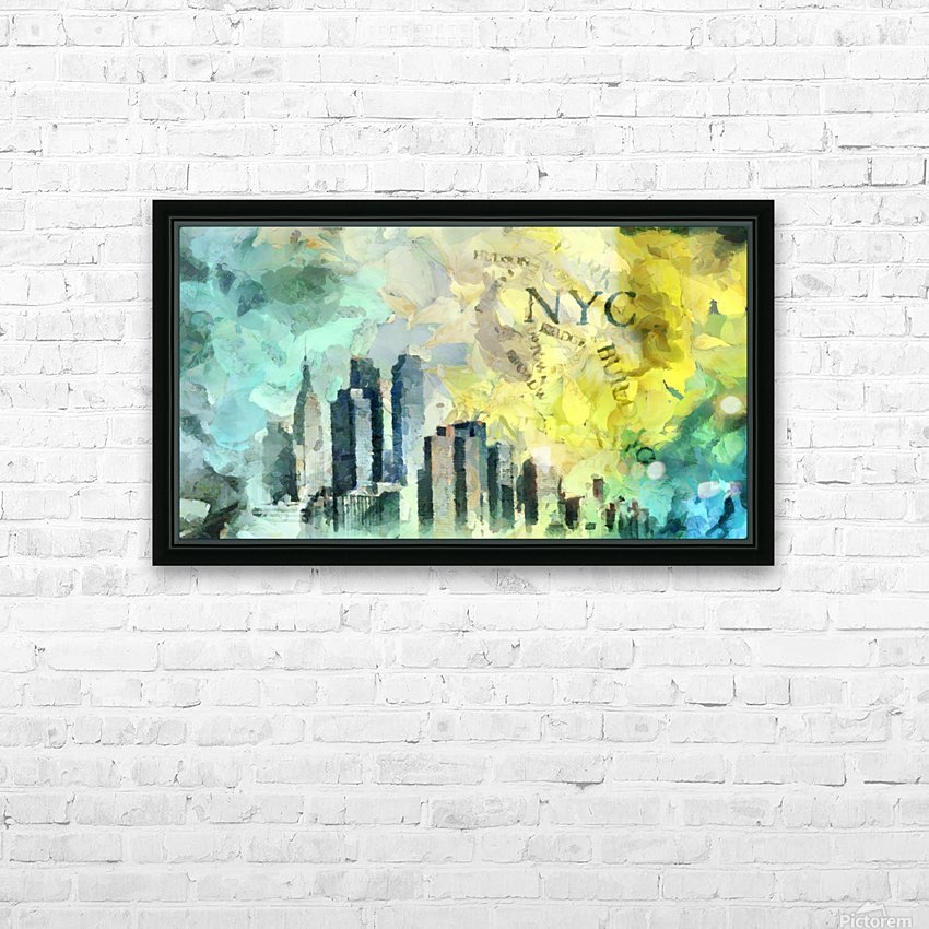 Manhattan HD Sublimation Metal print with Decorating Float Frame (BOX)