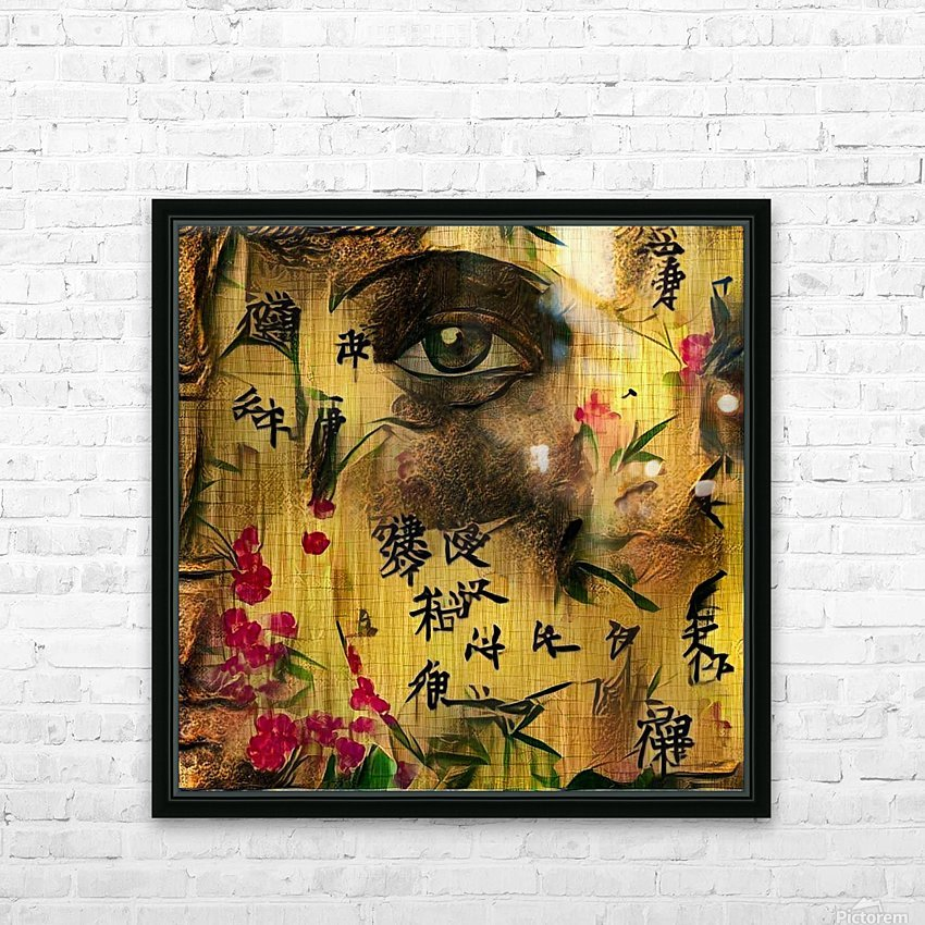 Asia Woman HD Sublimation Metal print with Decorating Float Frame (BOX)