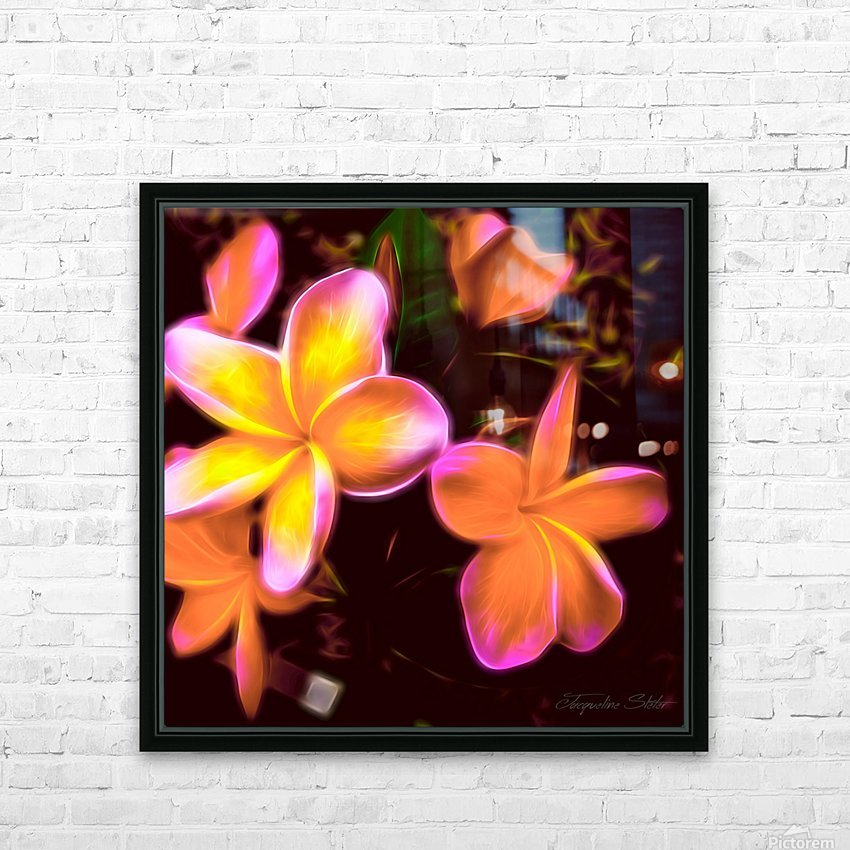 Frangipanis On The Glow HD Sublimation Metal print with Decorating Float Frame (BOX)