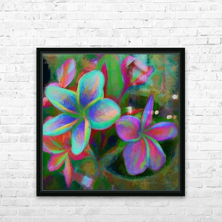 Painterly Frangipanis HD Sublimation Metal print with Decorating Float Frame (BOX)