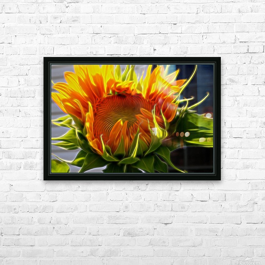 Glowing Sun HD Sublimation Metal print with Decorating Float Frame (BOX)