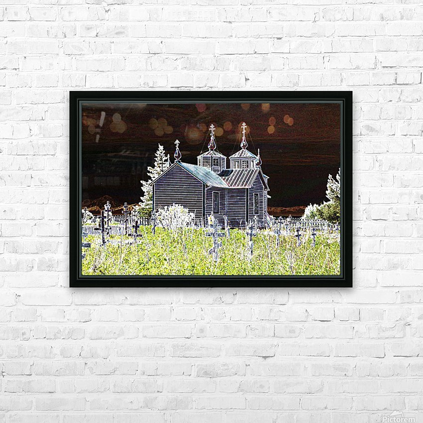 Church in Alaska HD Sublimation Metal print with Decorating Float Frame (BOX)