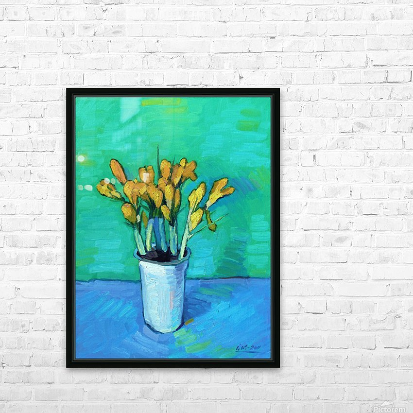 Crocuses HD Sublimation Metal print with Decorating Float Frame (BOX)