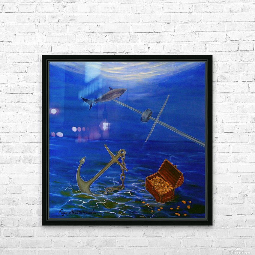 Lost Treasure HD Sublimation Metal print with Decorating Float Frame (BOX)