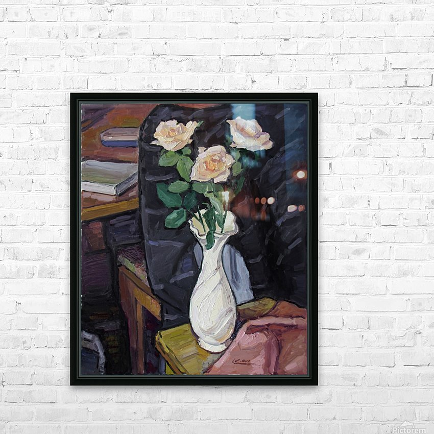 Three Roses HD Sublimation Metal print with Decorating Float Frame (BOX)