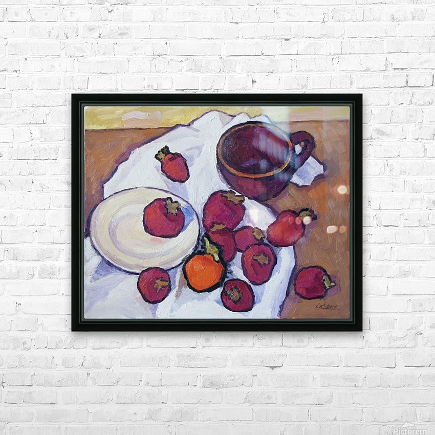 Strawberries-3v HD Sublimation Metal print with Decorating Float Frame (BOX)