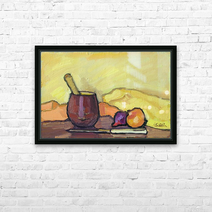 Still Life with Pounder HD Sublimation Metal print with Decorating Float Frame (BOX)