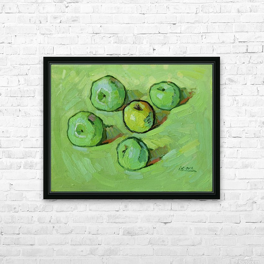 Green Apples HD Sublimation Metal print with Decorating Float Frame (BOX)