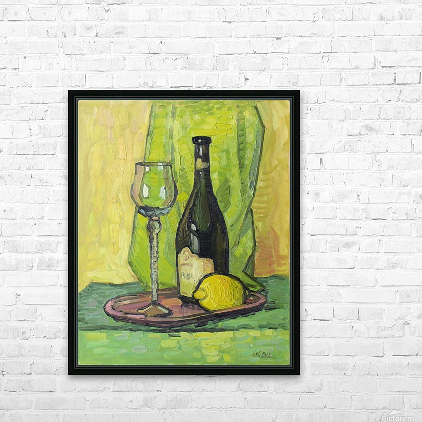 Still Life with Lemon HD Sublimation Metal print with Decorating Float Frame (BOX)