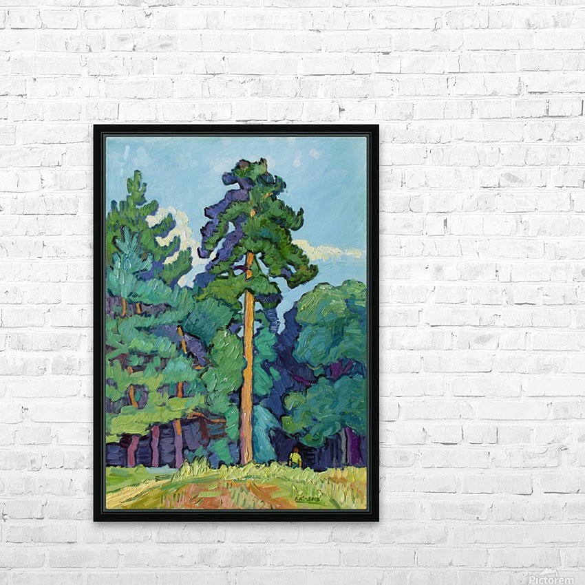 Edge of the Forest HD Sublimation Metal print with Decorating Float Frame (BOX)