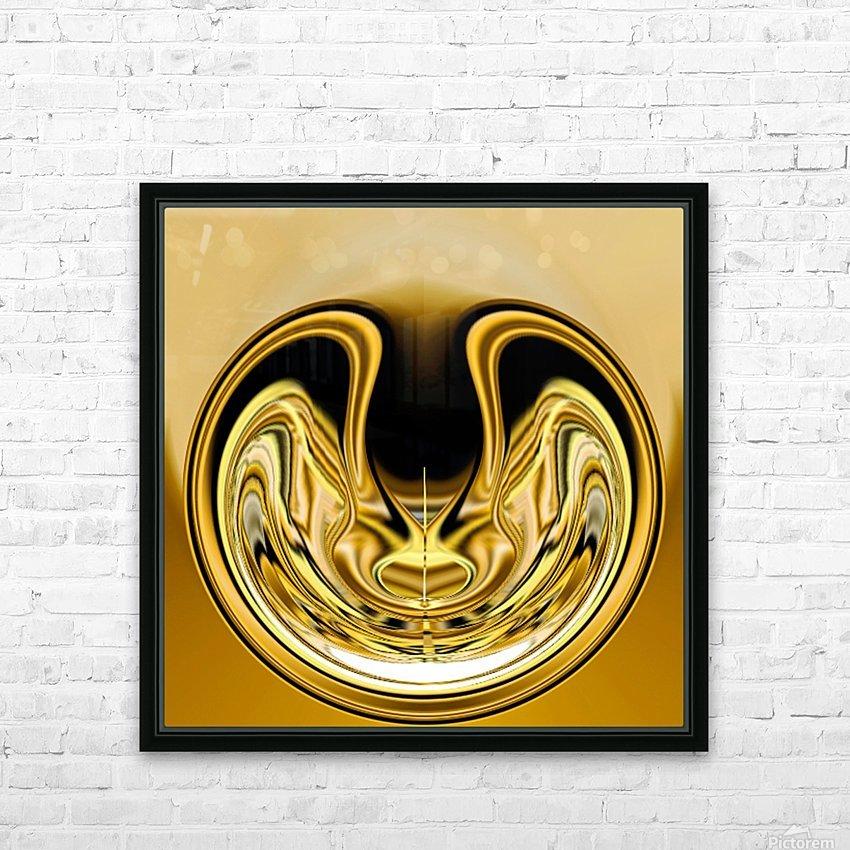GoldTone1 HD sublimation métal imprimé avec décoration flotteur cadre (boîte)