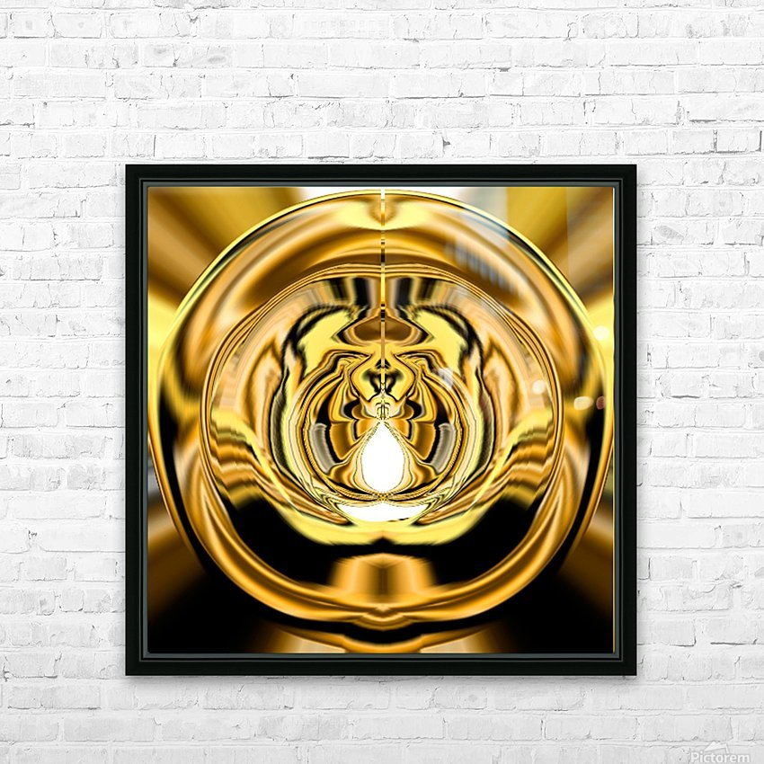 GoldTone3 HD Sublimation Metal print with Decorating Float Frame (BOX)