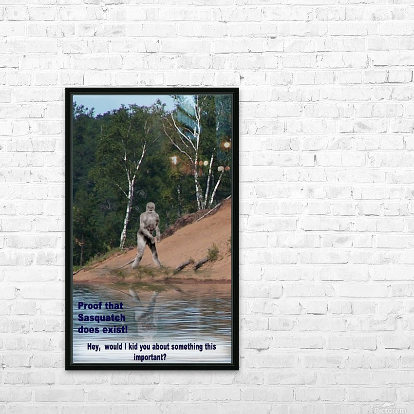 Sasquatch1 HD Sublimation Metal print with Decorating Float Frame (BOX)