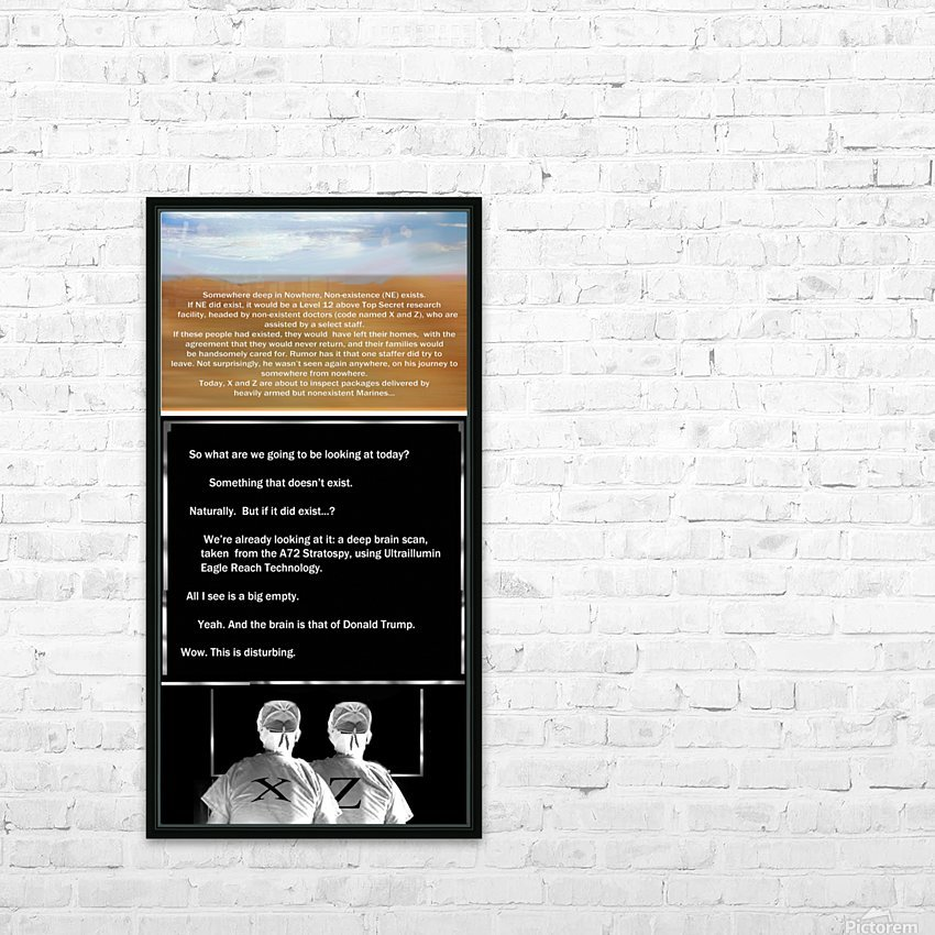 NonExistence HD Sublimation Metal print with Decorating Float Frame (BOX)