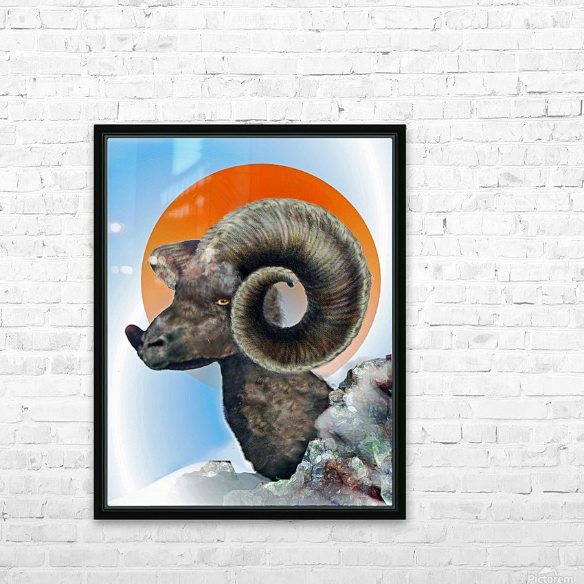 Ram HD Sublimation Metal print with Decorating Float Frame (BOX)